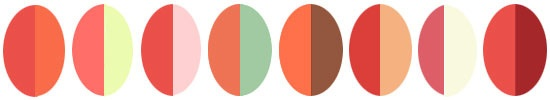 coral color pairings