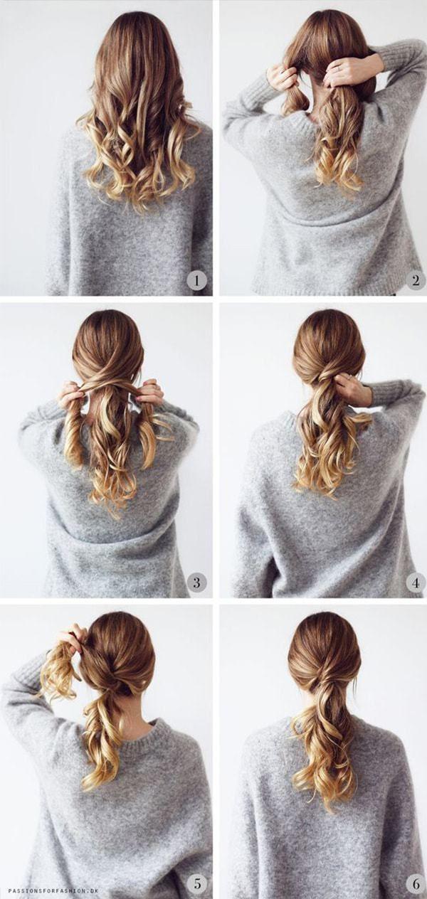 25 +> Frisuren Schritt für Schritt sehr einfach und schön für die Schule - # Frisur