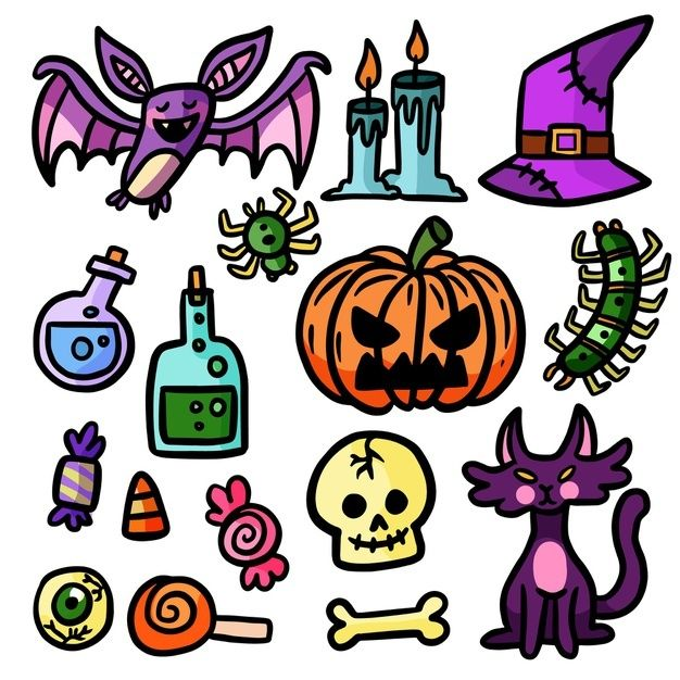 Halloween 2020 Poster Drawn Download Hand Drawn Halloween Element Collection for free in 2020