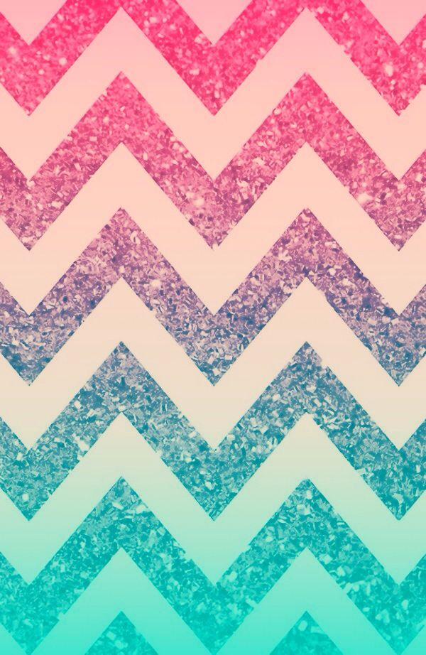 Ombr sparkle chevron wallpaper created by sydney cook Ombre aqua wallpaper