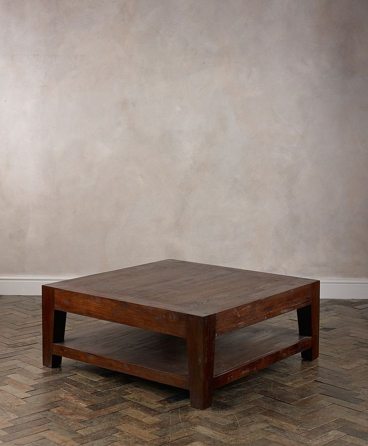 Lombok square table 110x110x45cm for lamp between sofas