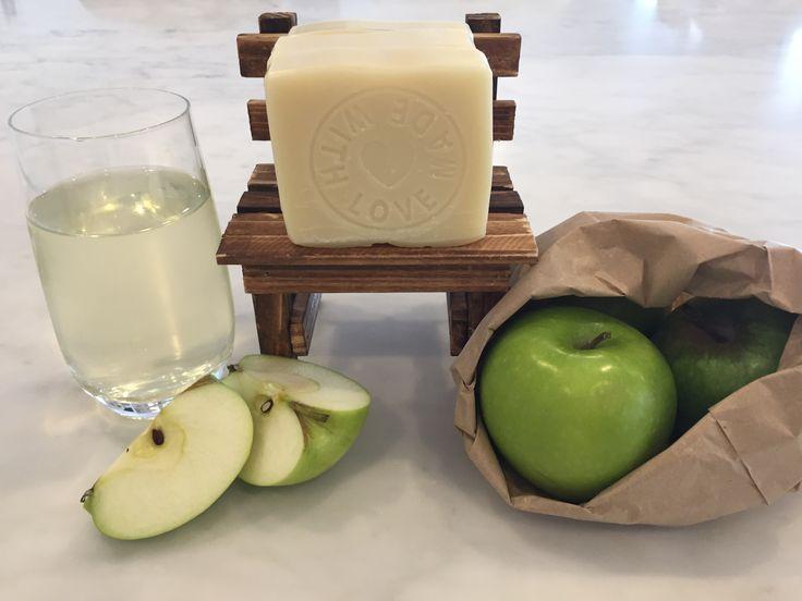 Green Apple natural soap.