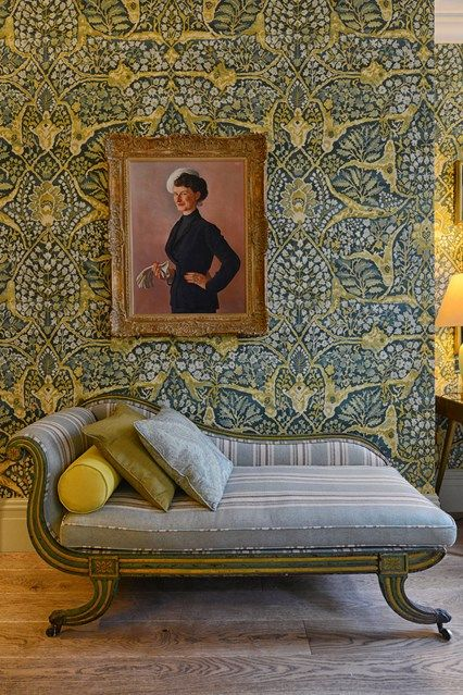 Floral wallpaper and striped fabrics go head to head in the fabulous Kipling Suite at Brown's Hotel, London | Cool places to stay (Condé Nast Traveller)