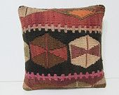 eclectic kilim pillow rustic bedding pillow kilim pillowcase antique rug pillow antique fabric kilim rug pillow outdoor cushion cover 26386