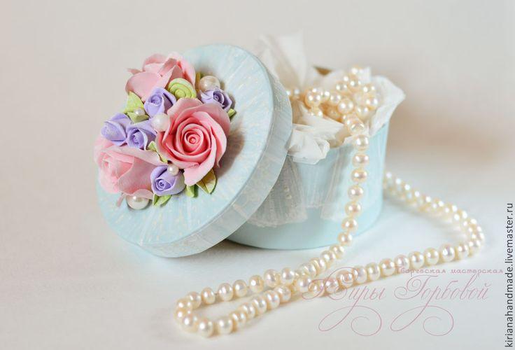 Купить Шебби-коробочка для мелочей - мятный, шкатулка, шкатулка для украшений, шебби, шебби-шик, розовый