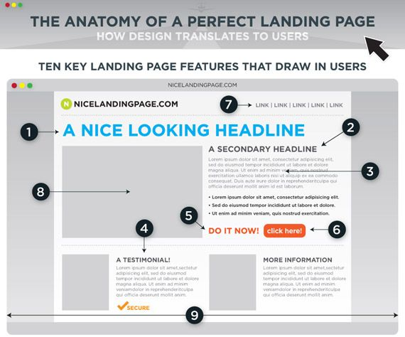 Anatomy landing pages