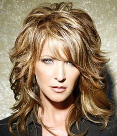 mid length hairstyles with bangs for coarse hair - Google Search