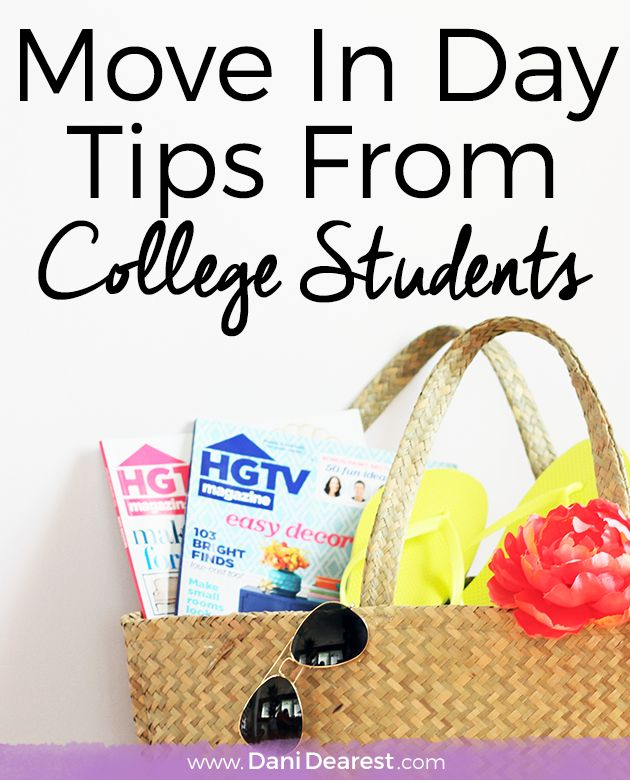 College Move In Day Tips from College Students