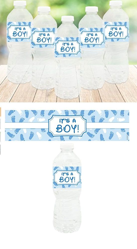 It's A Boy - Baby Shower Party Bottle Stickers | Baby Shower Decorations for Boys | Baby Shower Decorations on a Budget