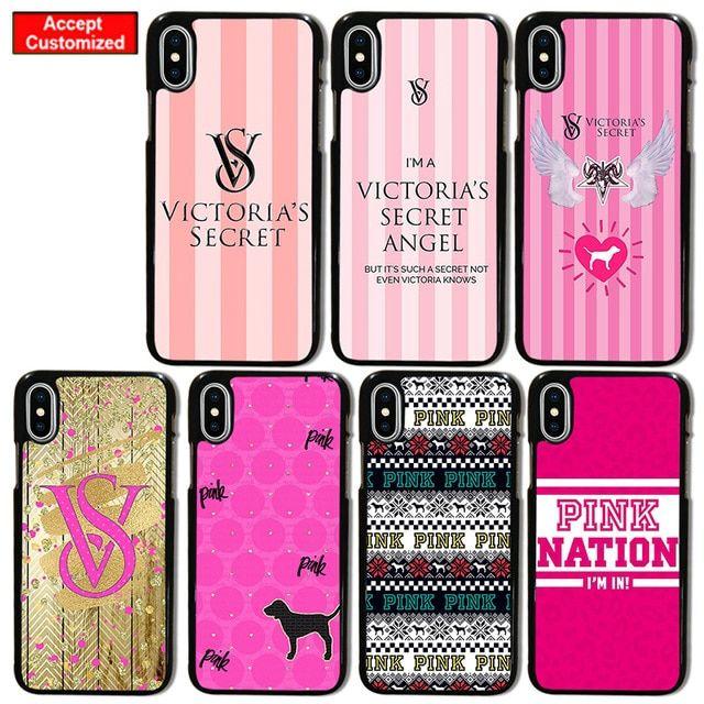 7c90a115a1 Pink Case for iPhone 5 5S SE 6 6S 7 8 Plus X XS Max XR Victoria ...