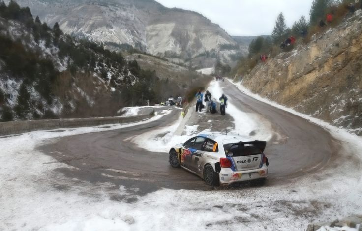 Volkswagen Polo Drifting Through The Mountains