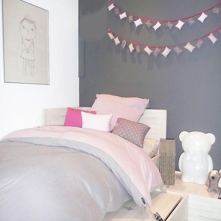 Chambre d'enfant : les univers colorés de Kids Love Design - Une vraie chambre de petite fille en rose et gris souris imaginée par Kids Love Design. - Kids Love Design a fait de la déco pour enfants son terrain de jeu favori. Découvrez la chambre d'enfant ou de bébé telle que la marque l'imagine.