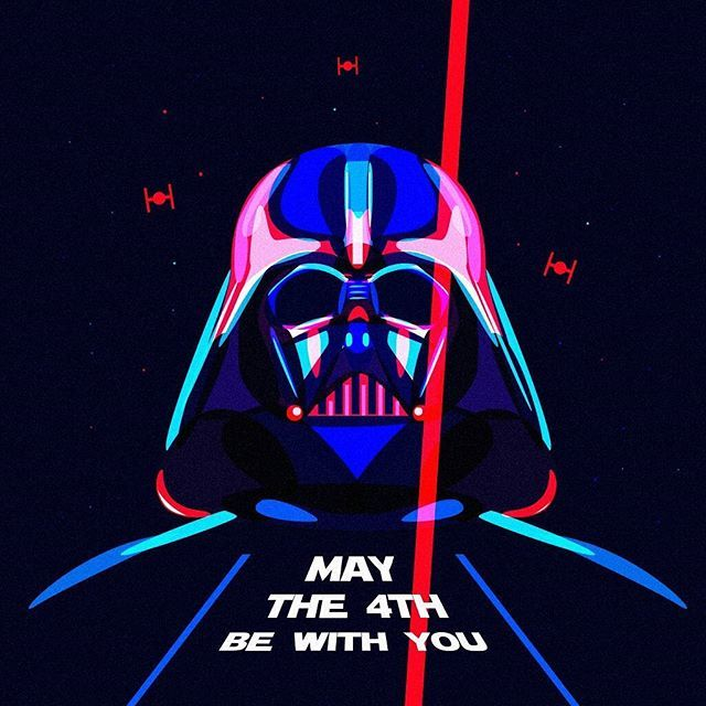 May the force be with U  #starwars #darthvader #force #may4 #space #dark #sith