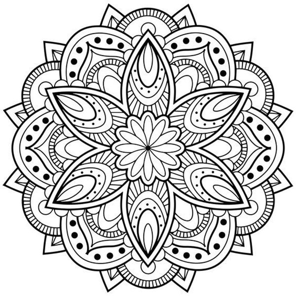 45 Free Printable Coloring Pages To Download Buzz 2018 Mandala Coloring Books Abstract Coloring Pages Mandala Printable