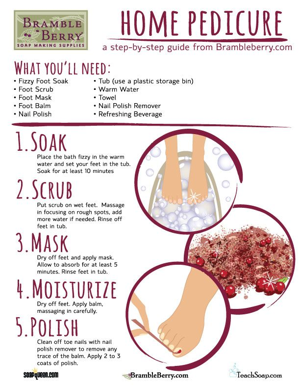 Home Pedicure How-To ~ Free Download | Bramble Berry® Soap Making Supplies
