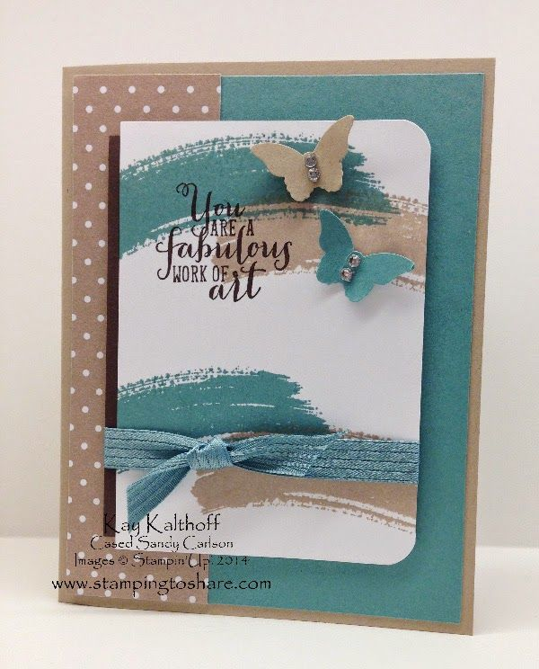 Swooshy Work of Art with How To Video, Cased Sandy Carlson, Kay Kalthoff is Stamping to Share with Stampin' Up!