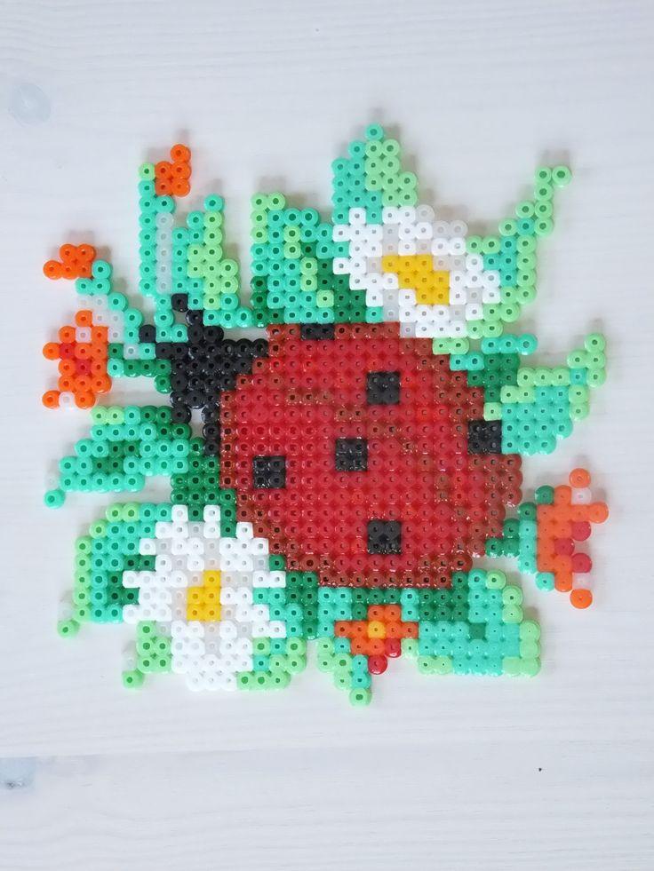 Marienkäfer - Ladybug hama perler by Anja Iris