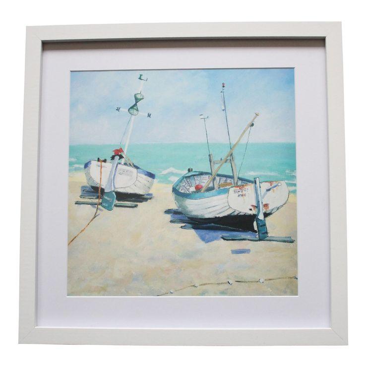 Jane Hewlett Beachside Boats Art