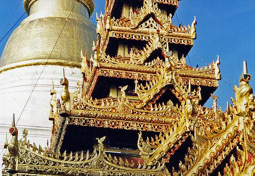 Burmese Temple architecture, Lampang, Thailand