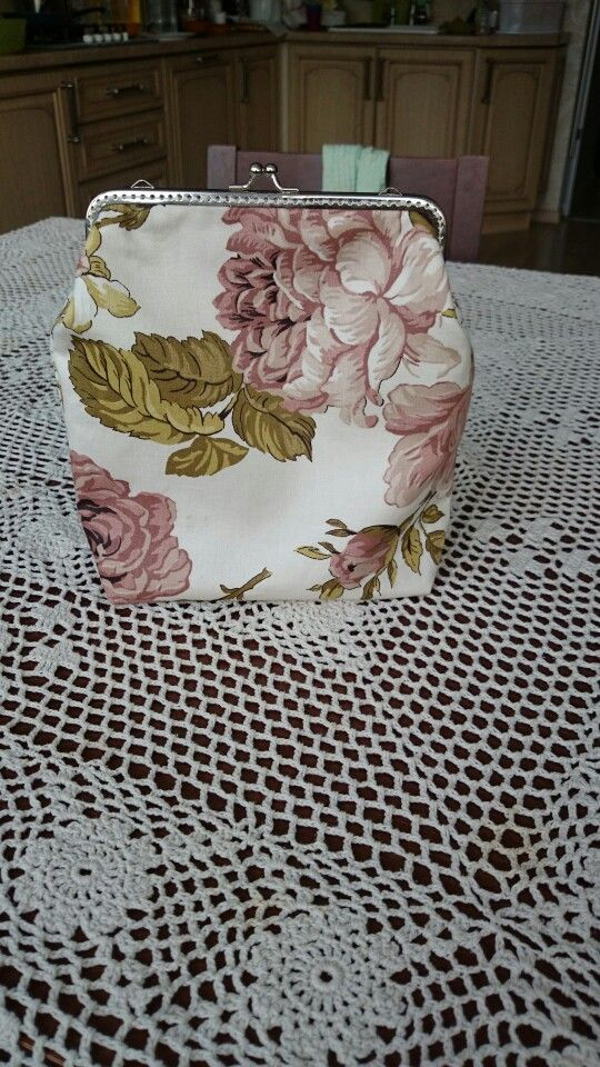 Cotton mini bag Tevelevich craft Shabby rose