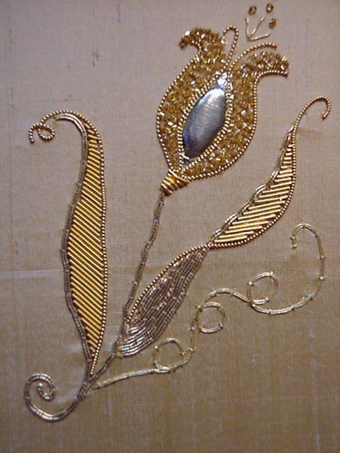 P008 Tulip Goldwork Embroidery Kit www.golden-hinde.co.uk