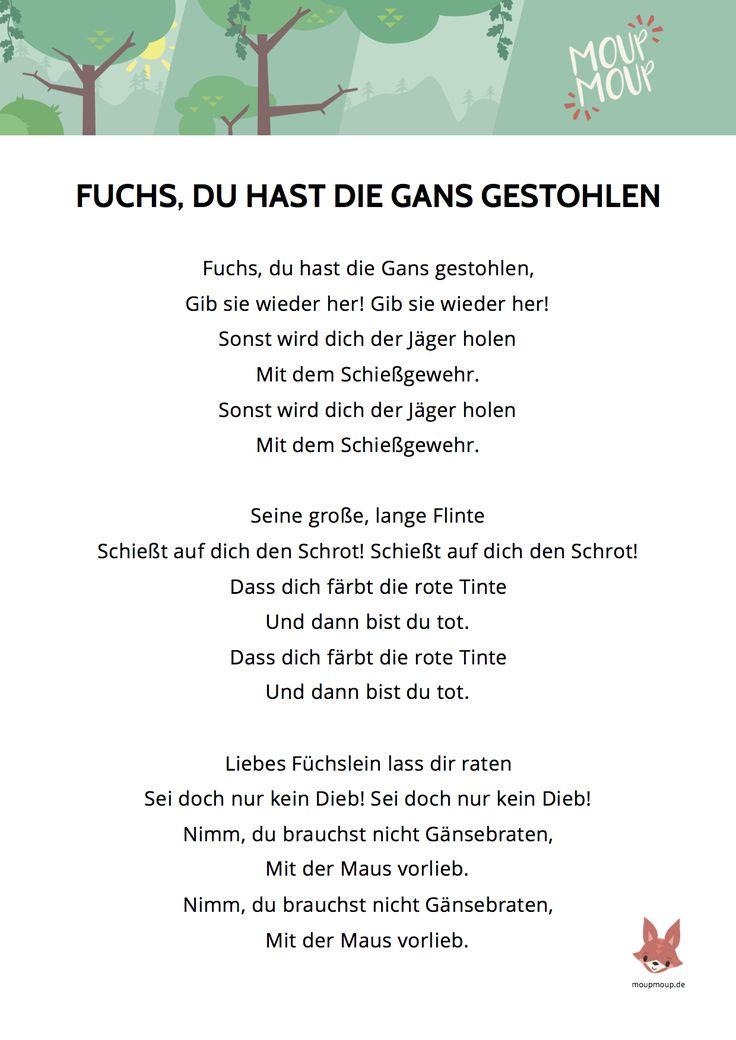 Kinderlieder Texte kostenlos zum Ausdrucken | Kinder lied