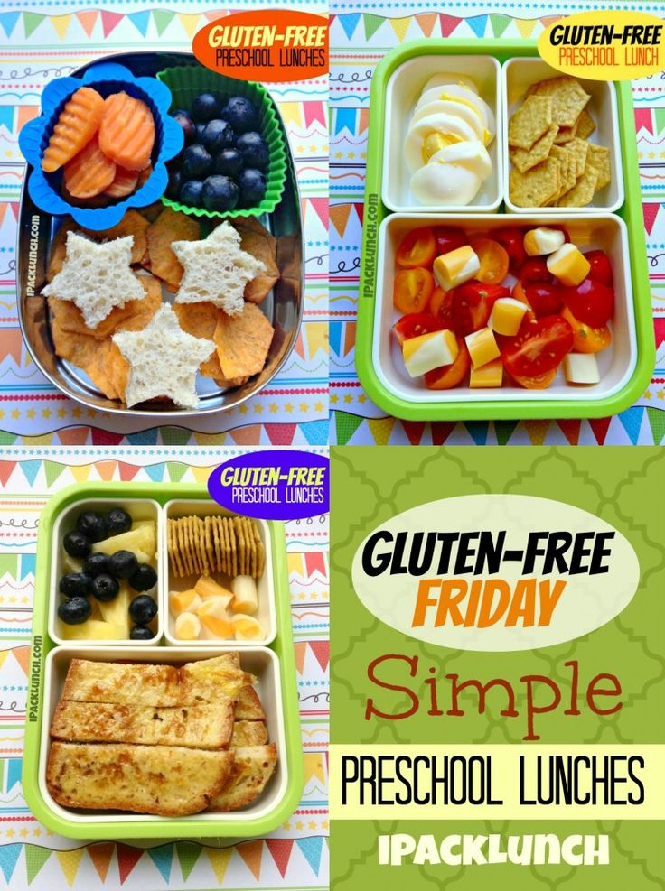 Gluten-Free healthy lunch ideas for preschoolers and toddlers