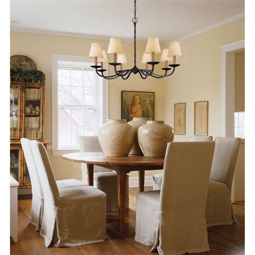 Off Alexander English Iron Eight Light Chandelier By Troy