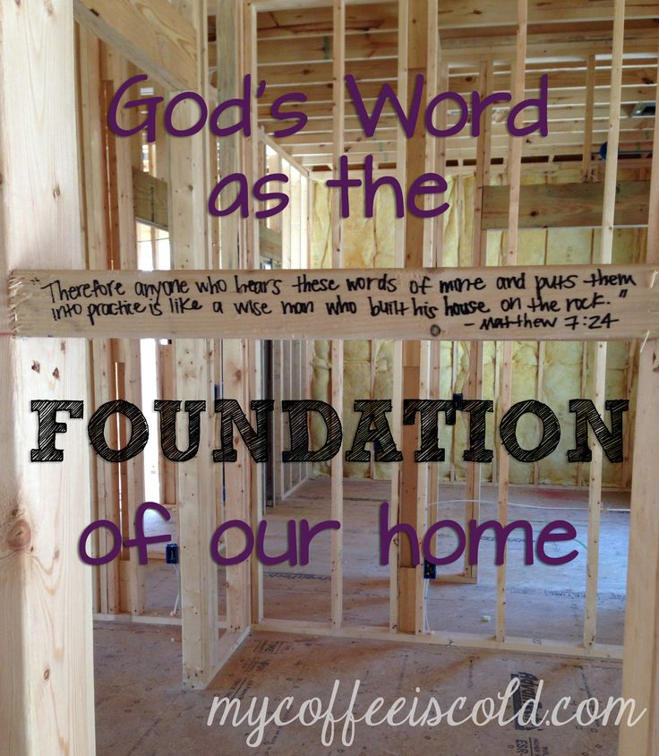 Writing Bible Verses On The Studs Of A House Under