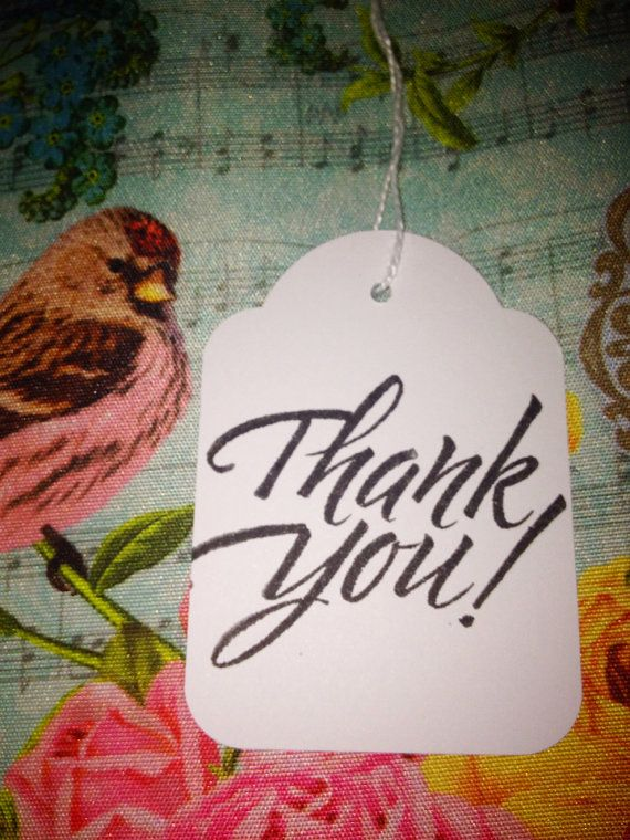 Bulk lot of 100 Hand Stamped Wedding Event Thank You by TypeWright