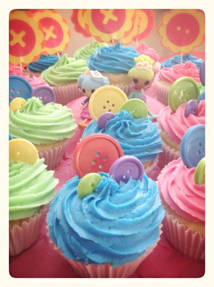 Lalaloopsy cupcakes. Fun spring surprise, would be perfect for one of our…