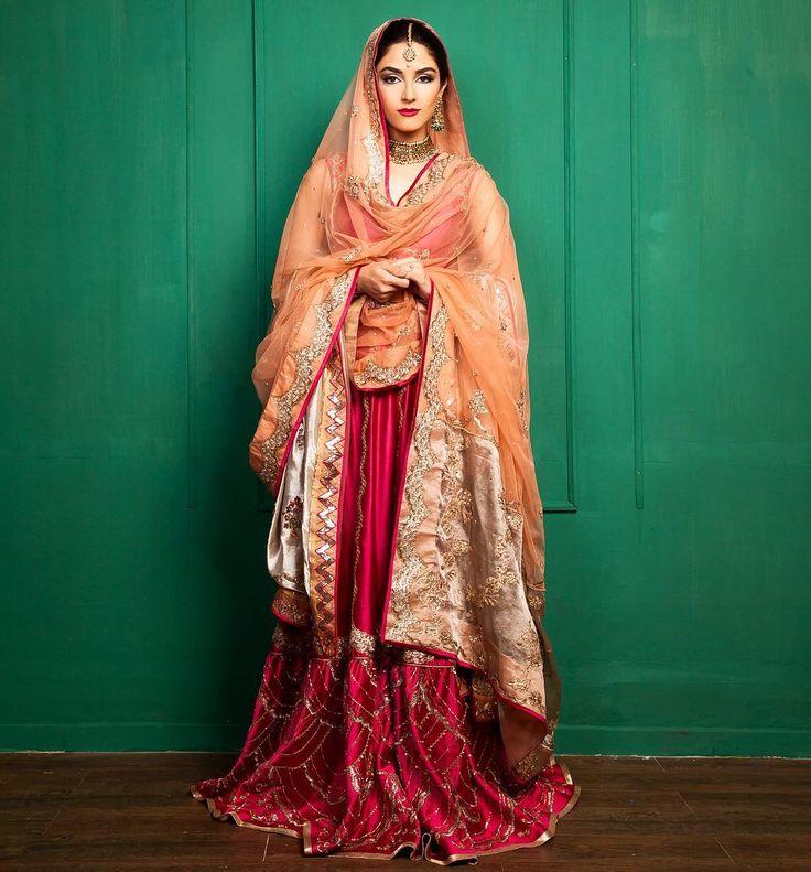 Pakistani bride Maya Ali. Presenting the second look for the @maramazmat…