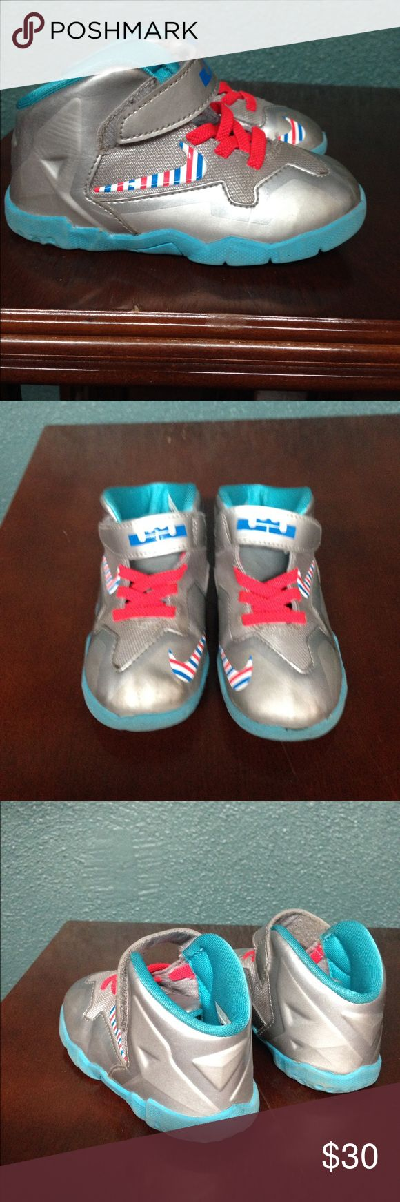 """Lebron James NIKE Tennis Shoes Nike """"Lebron James"""" Kid Shoes. Shoes are in perfect condition. Size 7. These are for the trendy stylish kid of today! Nike Shoes Sneakers"""