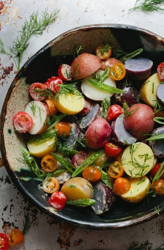 Summer Potato Salad with hard boiled egg slices