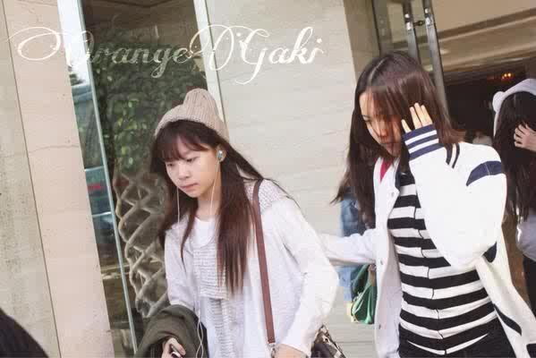 smrookies girl leaving their hotel in Shanghai