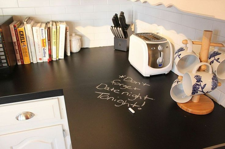 Hometalk :: Chalkboard Countertops