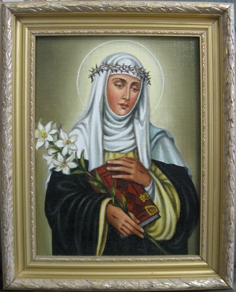 Святая Екатерина Сиенская (холст,масло)