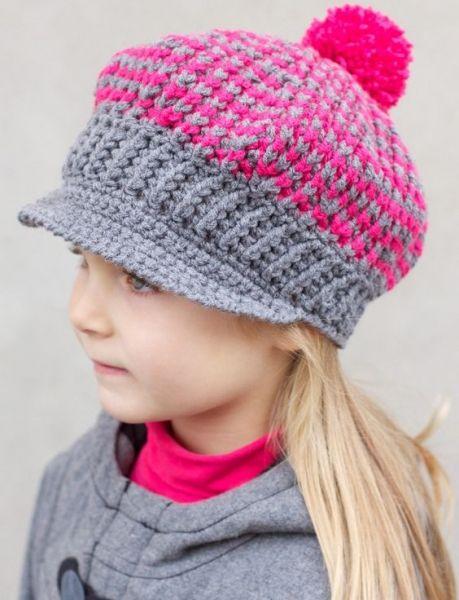 Download Newsboy Cap Crochet Pattern (FREE)