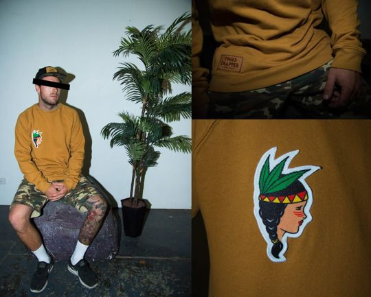 Hooked On Livin' Native Crew  #thirdChapter #3rdchapter #3C #streetwear #crewneck #clothing #mens #melbourne
