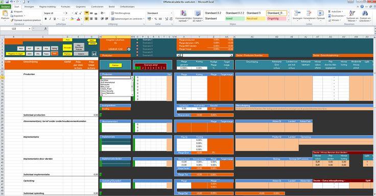 Versimpel calculaties tbv snelle clean offerte proces, generate sales, not work
