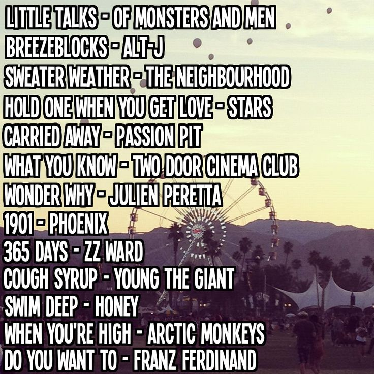 Playlist: Indie Music Festival
