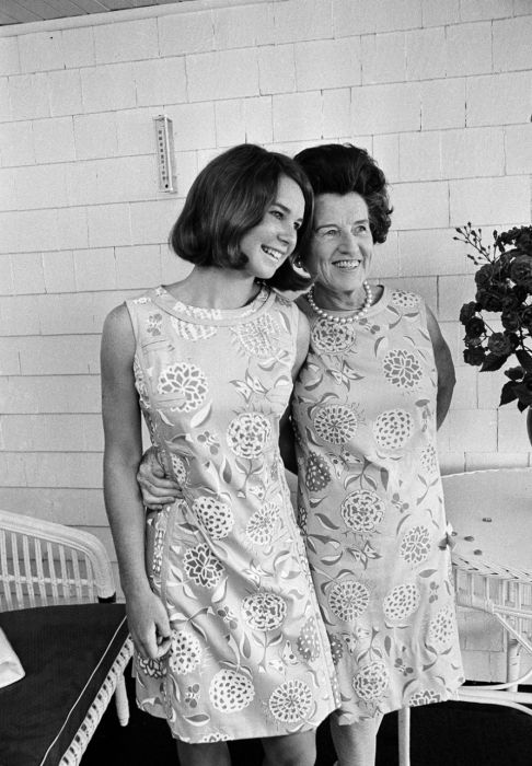 Rose Kennedy and her grand-daughter Kathleen Kennedy...Who Would, In Later Years, Continue the Kennedy Trademark of Service By Becoming the Lt. Governor of Maryland...Kathleen Kennedy Townsend Still Remains A Strong Force In Campaign of Democratic Female Candidates & The Democratic Party...And An Advocate For Womens' and Childrens' Rights...