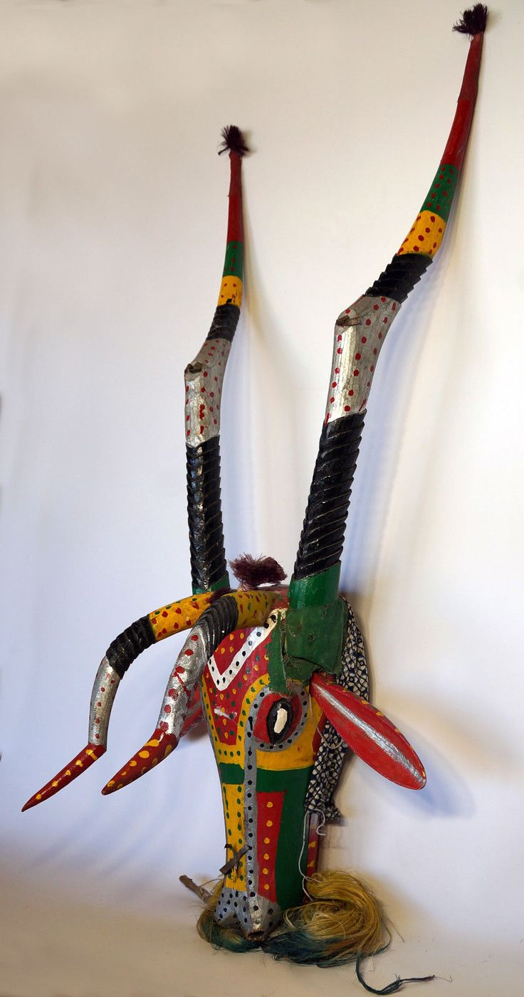 Very Large Bozo Antelope Mask Mali Africa | eBay