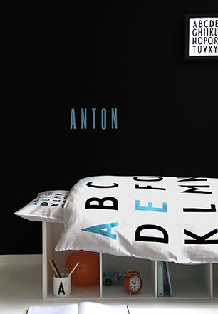 Design Letters | New organic kids bed linen with Arne Jacobsen´s letters