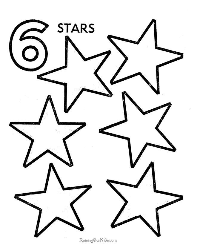 Preschool Number Worksheets 008 Numbers Preschool Star Coloring Pages Preschool Number Worksheets