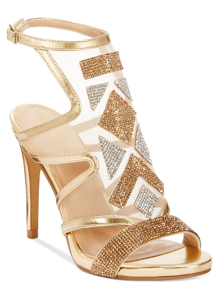 A hot night on the town requires some show-stopping pumps —these Regalo embellished sandals from the Thalia Sodi collection are going to look amazing with a fab fringed dress!