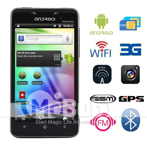 Android 2.3.4 + 4.3 Inch + WIFI + 3G + GPS + Support 3G video call + Bluetooth = ___ USD http://www.mcbub.com/item/Android-2-3-4-Dual-Sim-4-3inch-TV-WIFI-GPS-3G-Capacitive-Touch-screen-cell-phone-X15i-black-CA110391--144443/: Touch Screens, Capacit Touch, 3G Capacit, Screens Cell, Phones X15I, Cell Phones, 3G Dual, Wifi Gps, Dual Sims