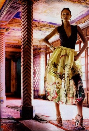 One of my favourite model's in Vogue - in love with this skirt!
