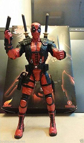 10 Marvel X-Men Double Broadsword Red Deadpool Action Figure Toy 2015 New Style @ niftywarehouse.com