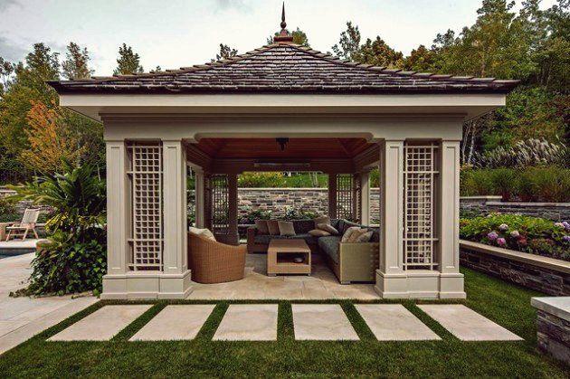 17 Herausragende Gazebo Gestaltungsideen Die Echte Freude Bereiten Moderner Pavillon Terrassen Gartenlaube Raum Im Freien